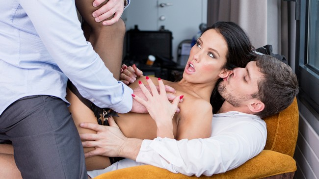 Megan Rain, fucked by 2 guys