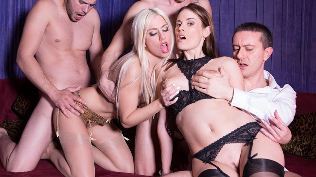 Claire Castel, perverted by Jessie Volt, in a swingers club